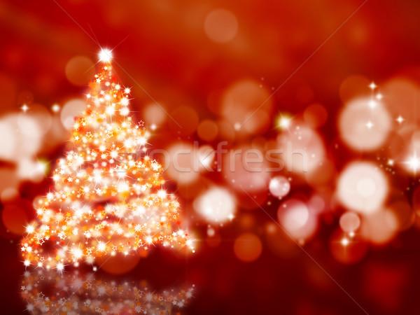 Sparkly Christmas tree Stock photo © kjpargeter