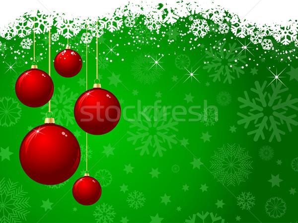 Natale verde rosso impiccagione sfondo luci Foto d'archivio © kjpargeter