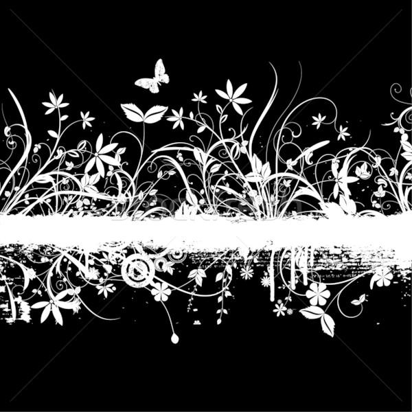 Kaotikus virágmintás grunge virág buli férfi Stock fotó © kjpargeter