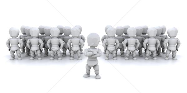 Stok fotoğraf: Takım · lideri · 3d · render · birisi · insanlar