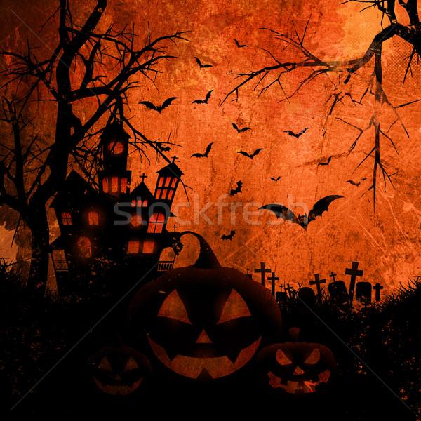 Grunge halloween estilo textura abstrato atravessar Foto stock © kjpargeter