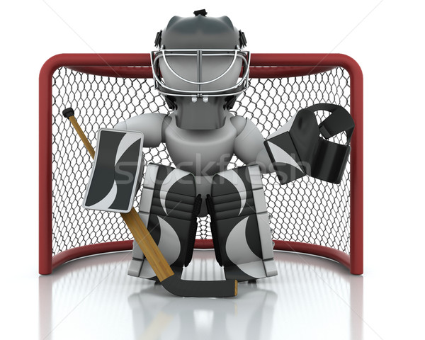 Ice hockey Goalie Stock photo © kjpargeter