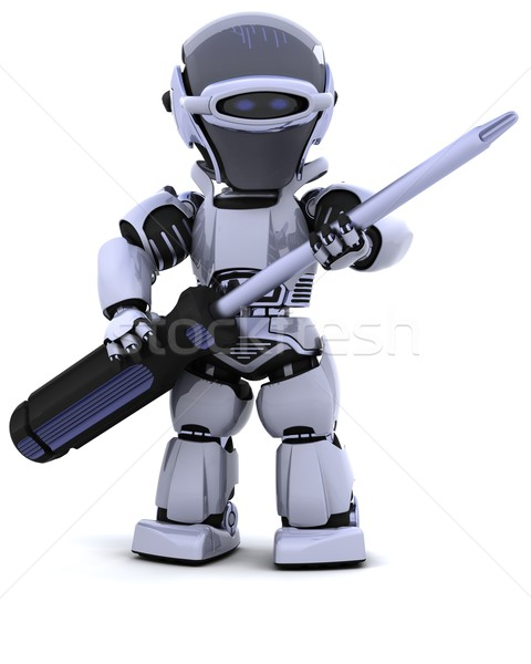 robot with  Stock photo © kjpargeter