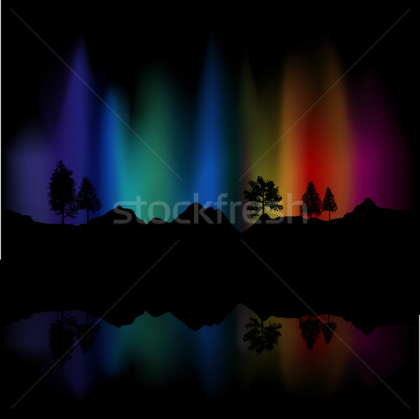 Northern lights Stock photo © kjpargeter