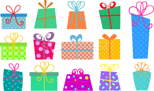 cartoon gift boxes Stock photo © kjpargeter