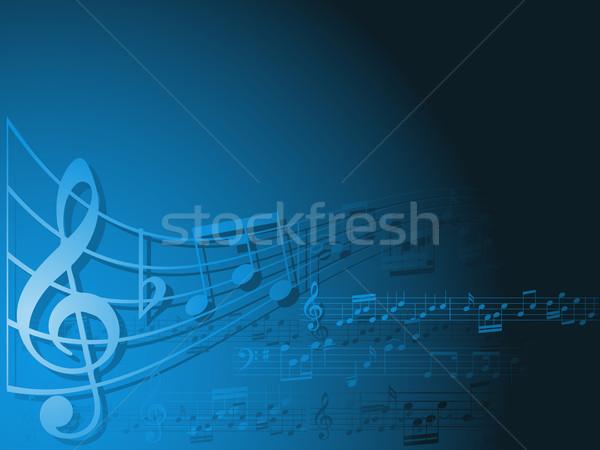 Foto stock: Música · resumen · notas · musicales · notas · personal · vector