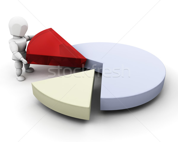 Person with pie chart Stock photo © kjpargeter