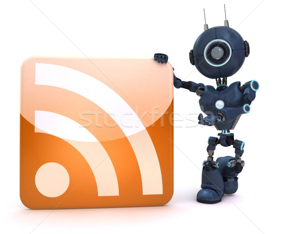 Android rss symbool web Stockfoto © kjpargeter