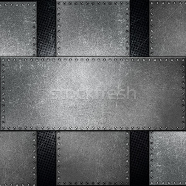 Abstract metallic background with screws Stock photo © kjpargeter