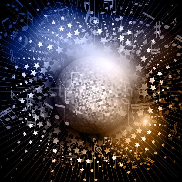 Spiegel ball abstrakten musiknoten hintergrund for Spiegel hintergrund