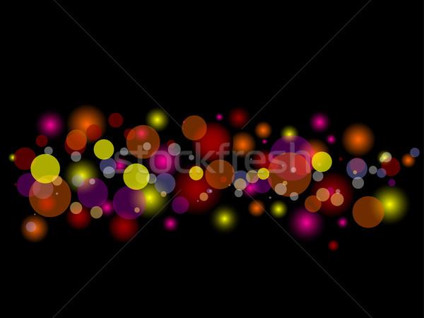 Zamazany światła streszczenie efekt tle kolor Zdjęcia stock © kjpargeter