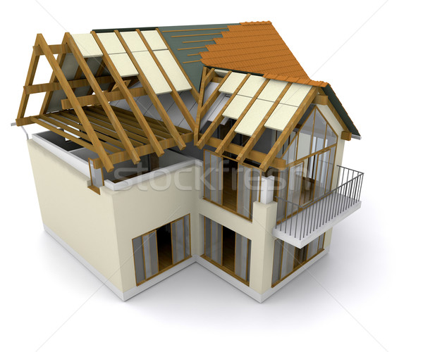 Stock photo: House under construction
