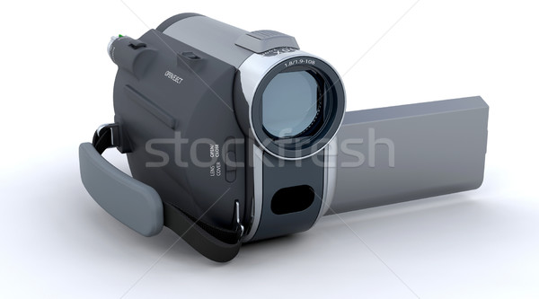 3D カム カメラ 孤立した 白 ホーム ストックフォト © kjpargeter