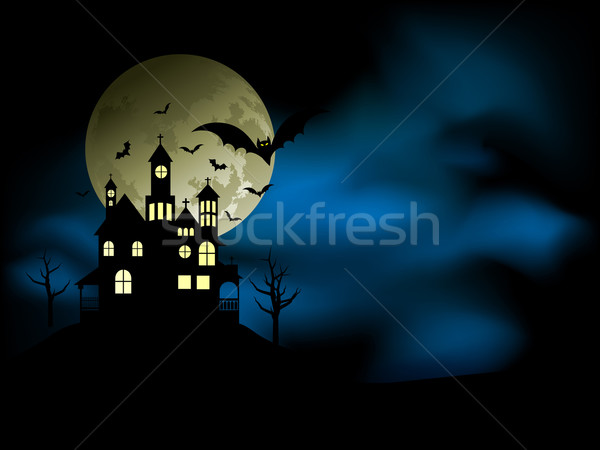 Spooky house Stock photo © kjpargeter