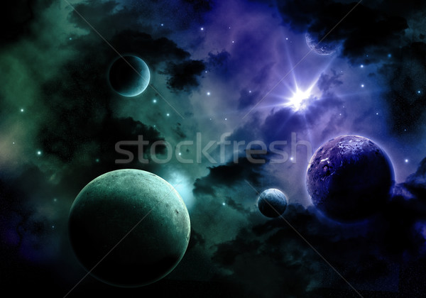 3D Space sky background Stock photo © kjpargeter