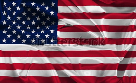 american flag Stock photo © kjpargeter