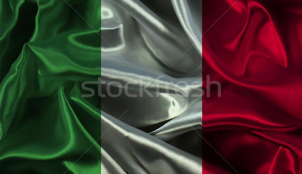 Drapeau italien sport pavillon italien matériel illustration Photo stock © kjpargeter