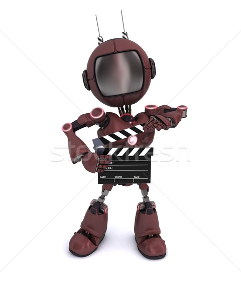 Android bord rendu 3d homme film Photo stock © kjpargeter