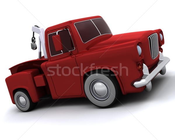 Karikatúra 50-es évek teherautó 3d render szállítás vezetés Stock fotó © kjpargeter