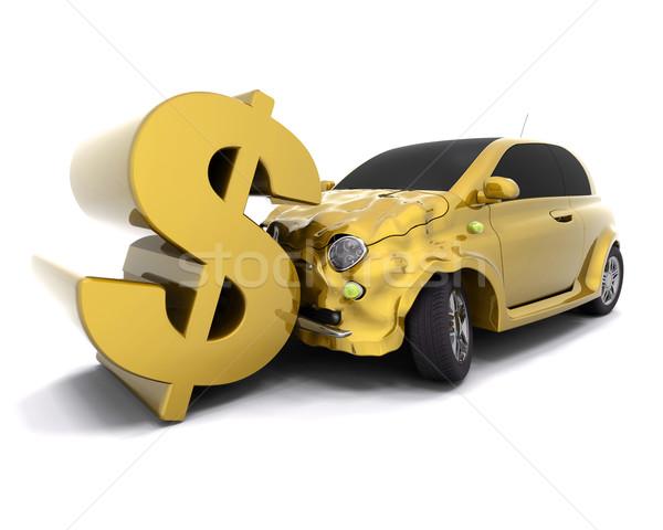 Crashing dollar Stock photo © kjpargeter