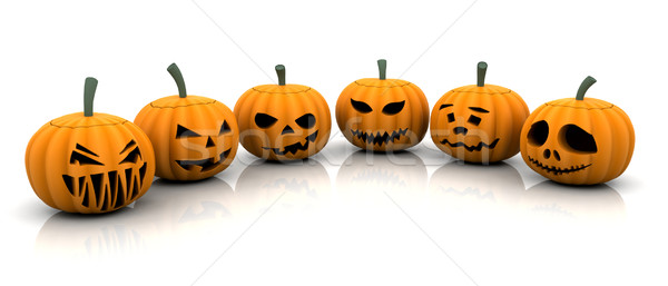 Scary pumpkins Stock photo © kjpargeter
