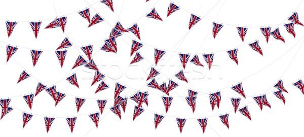Brit zászló bannerek 3d render ünnep ünneplés szalag Stock fotó © kjpargeter
