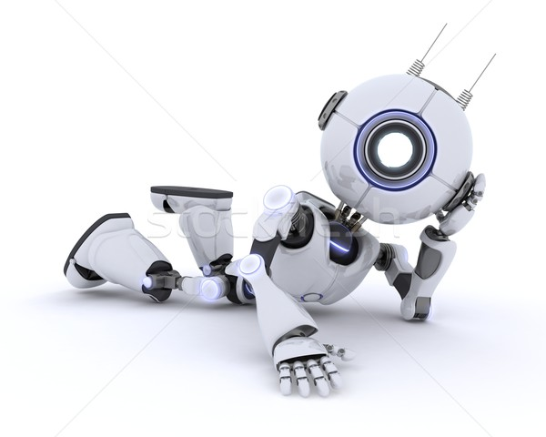 Robot Relaxing Stock photo © kjpargeter