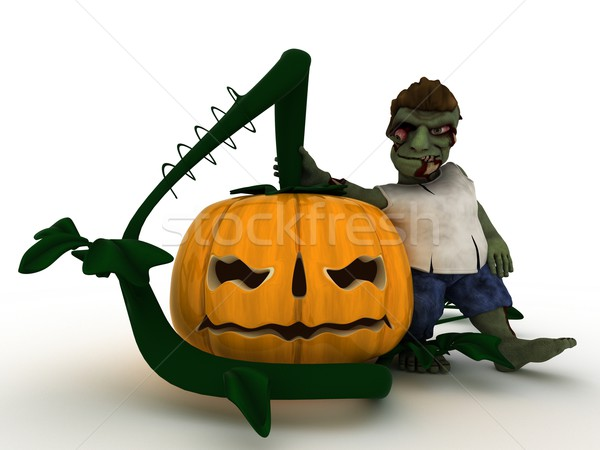 Cartoon Zombie Character Stock photo © kjpargeter