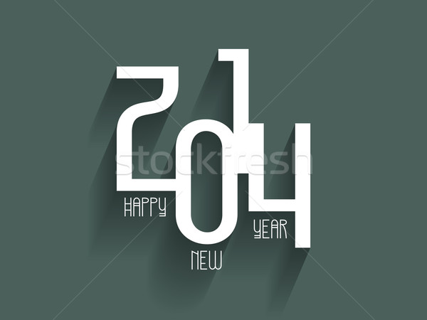 Feliz año nuevo decorativo texto año nuevo fondo celebrar Foto stock © kjpargeter