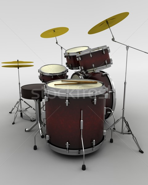 concert drum kit Stock photo © kjpargeter