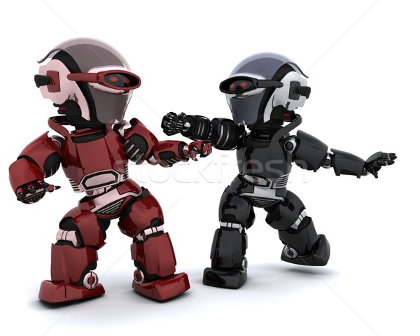 robots in conflict Stock photo © kjpargeter
