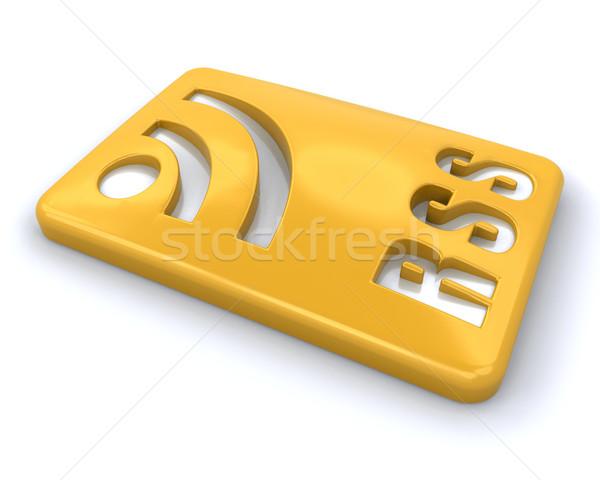 Rss szimbólum 3d render kommunikáció logo weboldal Stock fotó © kjpargeter