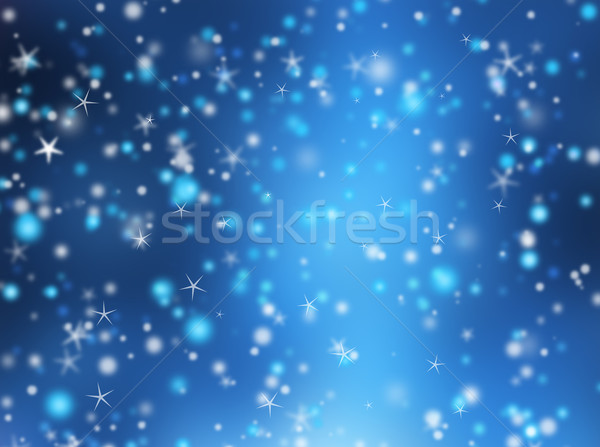 Christmas abstract sneeuw star lichten koud Stockfoto © kjpargeter