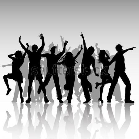 Сток-фото: Funky · вечеринка · люди · танцы · музыку