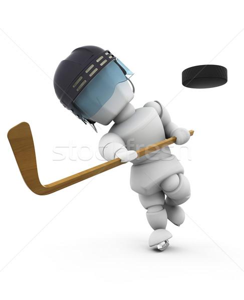 Ice hockey player Stock photo © kjpargeter