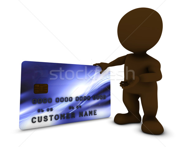 3D Morph Man with credit card Stock photo © kjpargeter