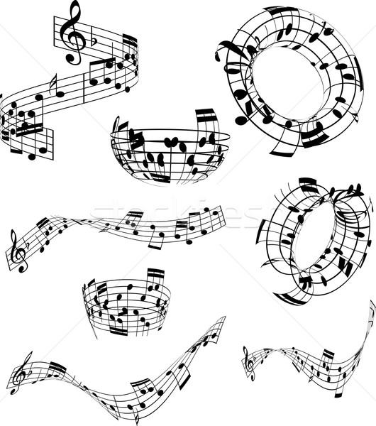 Abstract music notes  Stock photo © kjpargeter