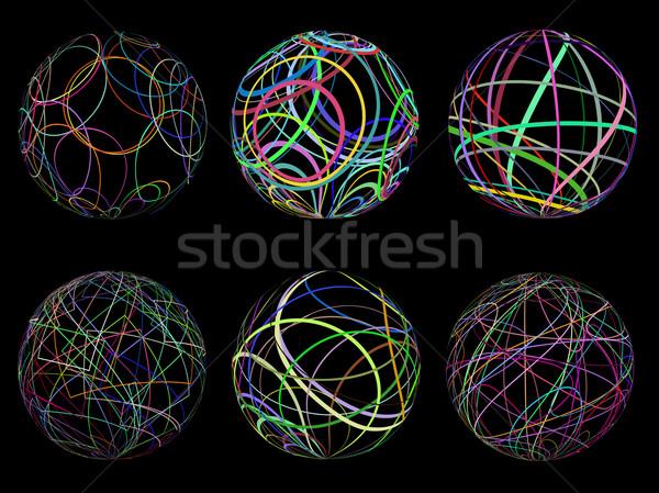 Scribble spheres Stock photo © kjpargeter