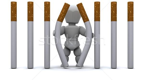 Man escaping Cigarette Prison Stock photo © kjpargeter