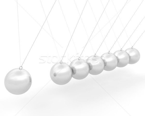 chrome newton swing Stock photo © kjpargeter