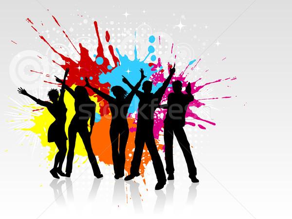 Сток-фото: Гранж · вечеринка · люди · танцы · девушки