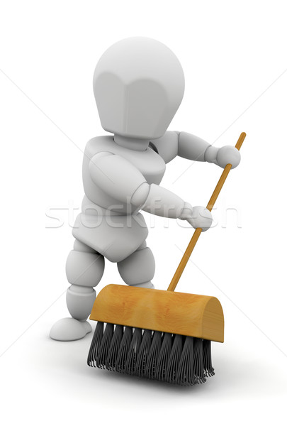 Sweeping up Stock photo © kjpargeter
