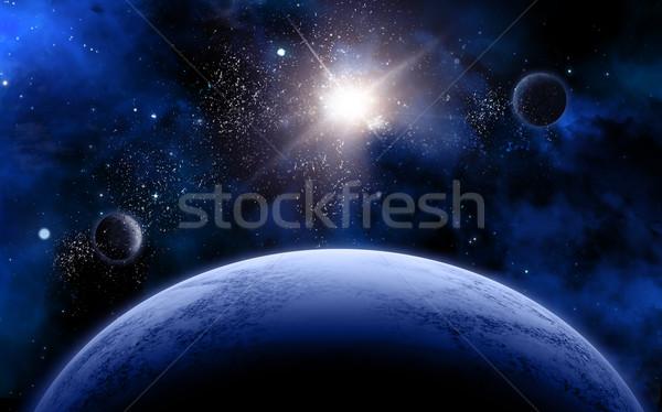 3D space scene Stock photo © kjpargeter