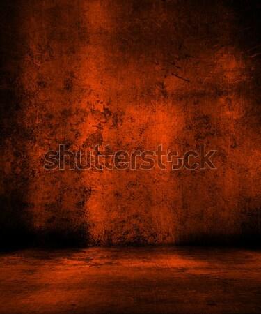 Grunge orange Jahrgang Entsetzen feiern Illustration Stock foto © kjpargeter
