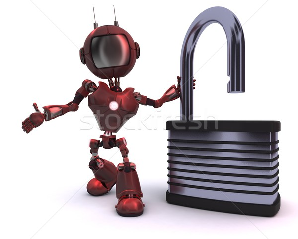 Android with padlock Stock photo © kjpargeter