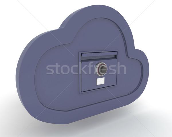 Online Lagerung Wolke 3d Render Stock Foto