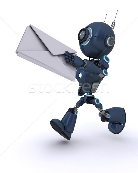 Android lettre rendu 3d homme mail Photo stock © kjpargeter