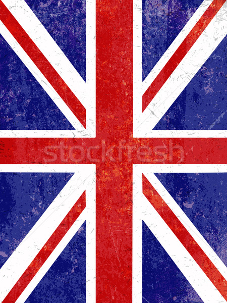 Grunge Union Jack background Stock photo © kjpargeter
