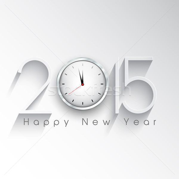Happy New Year clock background  Stock photo © kjpargeter