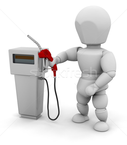 Person at a fuel pump Stock photo © kjpargeter